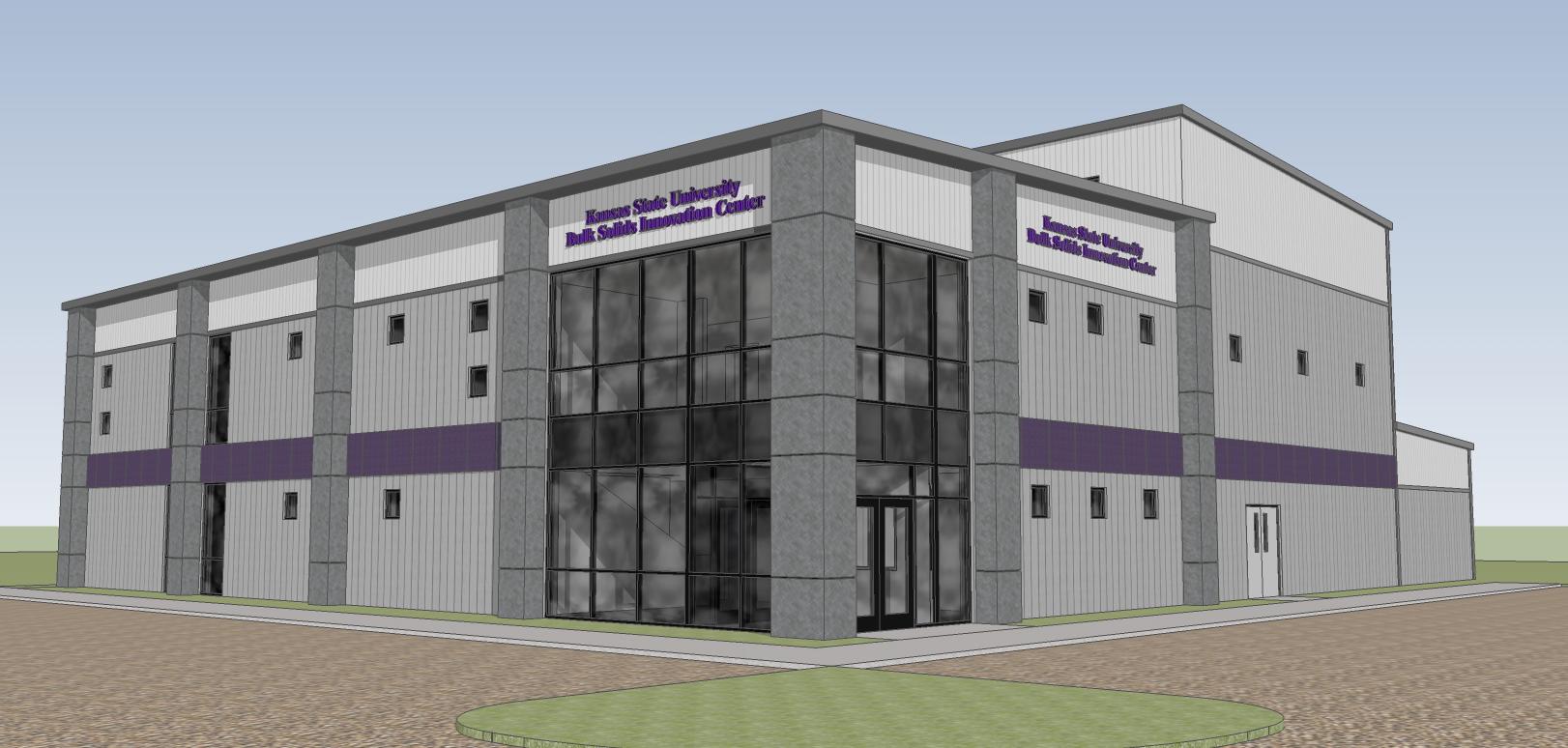 Rendering of K-State Bulk Solids Innovation Center in Salina, KS